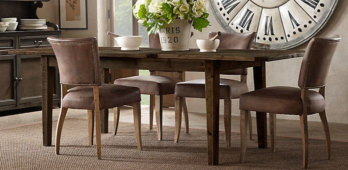 1900's boulangerie dining table | restoration hardware- or this