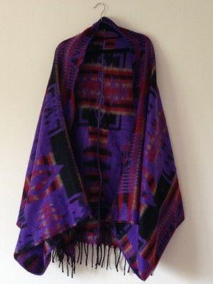 Winter Blanket Scarf Cape Kimono