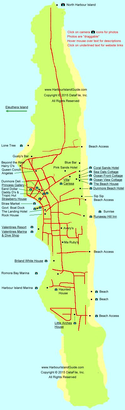 Harbour Island Map - Harbor Island Bahamas