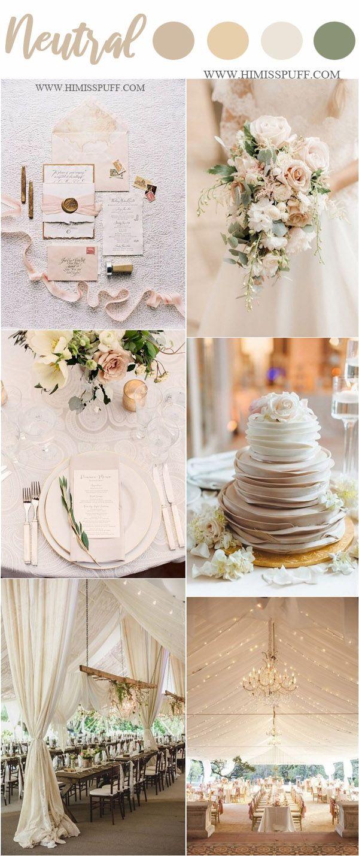 Wedding Color Trends 2021 45 Neutral Spring Wedding Color Ideas Spring Wedding Colors Wedding Color Trends Cream Wedding Colors