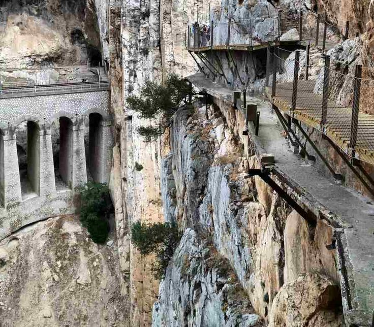 Caminito del Rey (Spain) - At 105 metres high you can walk on a path built on steep rock walls. The attraction was closed for a decade in 2000, although has now been re-opened to scare the public once again. - More unique travel inspiration in Europe can be found on a map on www.broscene.com !
