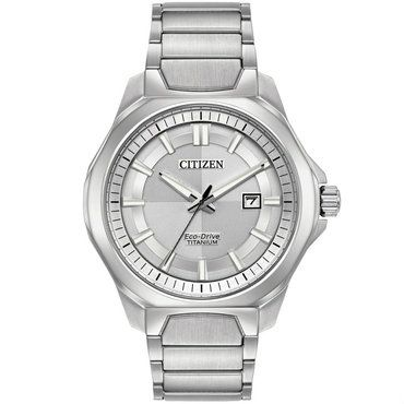 Citizen Mens Eco Drive Super Titanium Bracelet Watch AW1540-88A