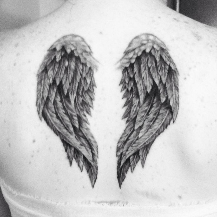 38 best Tattoos images on Pinterest | Small angel wing tattoos ...