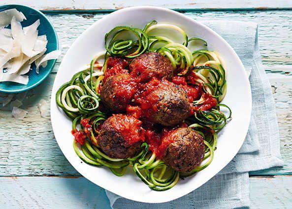 Veggie polpette with courgette spaghetti recipe | Homemade