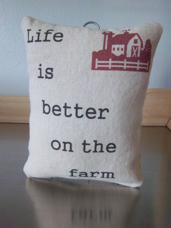 Country farmhouse pillow handmade farm ornament decoration unique rustic home decor on Etsy, $18.00