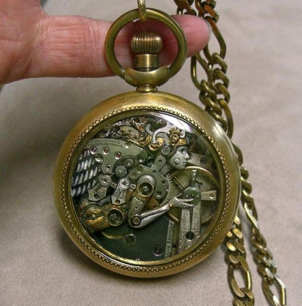 Intricate Sculptures Inside Pocket Watches #Steampunk
