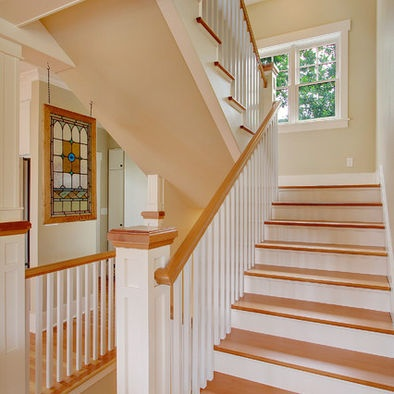 Best White Wood Stairs And Banisters New Staircase Pinterest 400 x 300