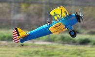 2013 4 CH FMS Stearman PT-17 RC Biplane Airplane RTF -  Feature:  4 Channel Full Function Radio Controlled (Aileron, Elevator, Throttle, Rudder)  Constructed with EPO flex foam  Detailed cockpit design  Landing gears with scaled suspension suspension