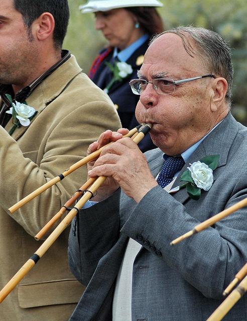 Maestro Luigi Lai, suonatore di Launeddas