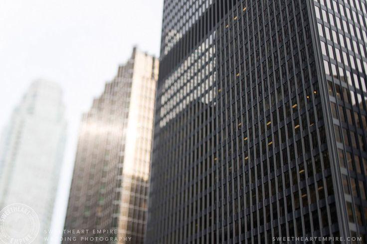 Downtown Toronto Buildings near the Ritz Carlton Toronto Wedding Photography #sweetheartempirephotography