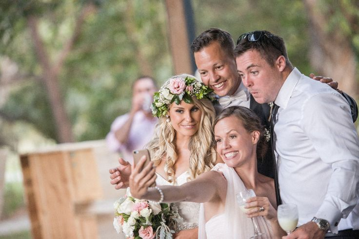bride and groom selfie.   North Stradbroke Island stradbrokeislandphotography.com