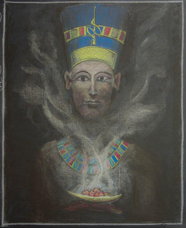 5th Grade: Ancient History and Mythology; Egypt - Nephertiti offering Kyph