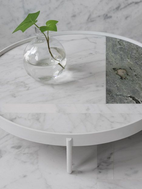 Patchwork Marble Tables by Note Design and Norm Archotects for Menu