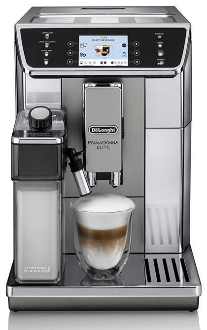 """DeLonghi PrimaDonna Elite ECAM 650.55.MS  DeLonghi PrimaDonna Elite ECAM 650.55.MS: Optimale koffie beleving mét melksysteem Deze volautomatische koffiemachine doet wat jij wilt! Op de DeLonghi PrimaDonna Elite ECAM 650.55.MS heb je de mogelijkheid om zes gebruikersprofielen aan te maken. Zo stel je alle dranken in naar jouw persoonlijke voorkeur genieten van koffie op de manier hoe jij het wilt.Het bedieningspaneel is een 35"""" touch-display die het jou gemakkelijk maakt het menu te…"""