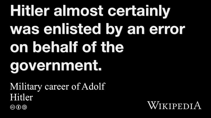 """Military career of Adolf Hitler"" on @Wikipedia:"