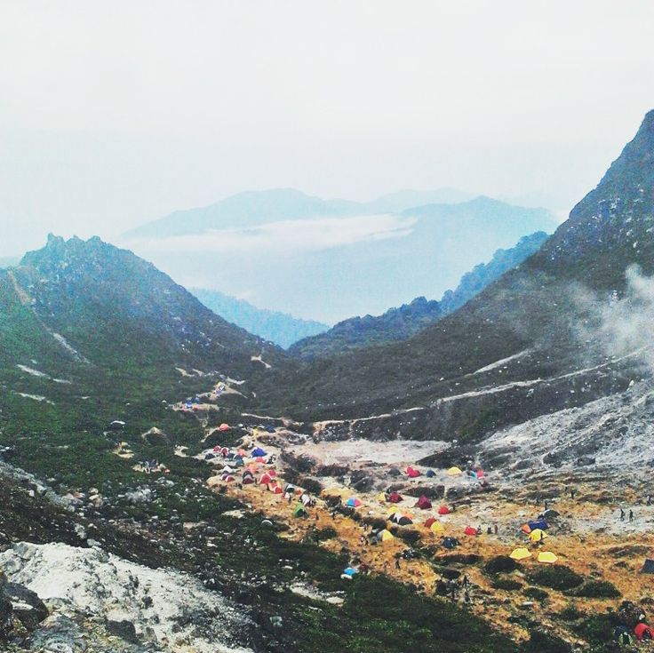 Camp in sibayak mountain
