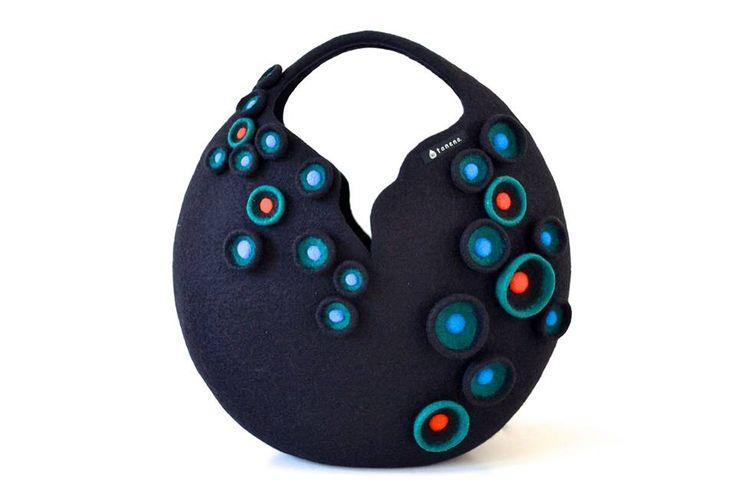 Atsuko Sasaki sea anemone bag♪ New model in black  www.taneno.com