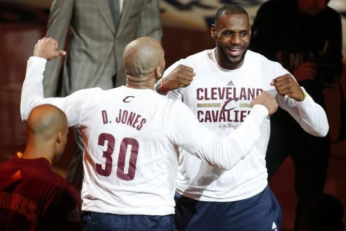 LeBron James said he'd pay Dahntay Jones' Game 1 fine after the veteran was docked in the final seconds Monday at Quicken Loans Arena.