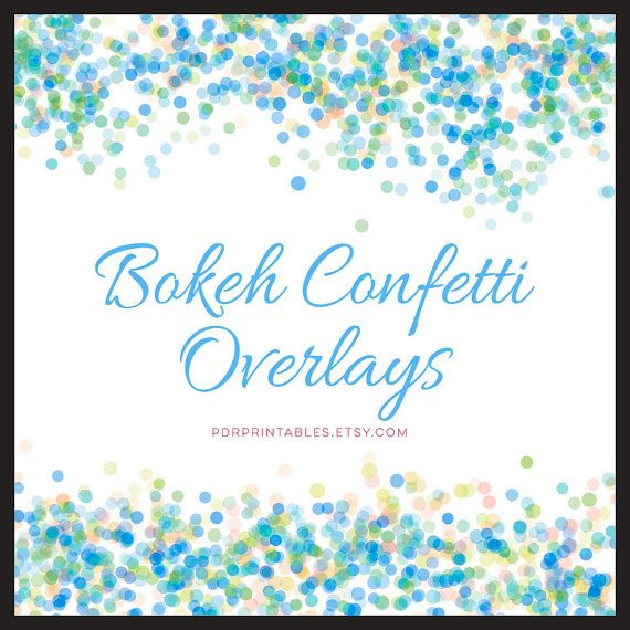 Bokeh confetti overlays Digital Scrapbook Paper by PDRPrintables