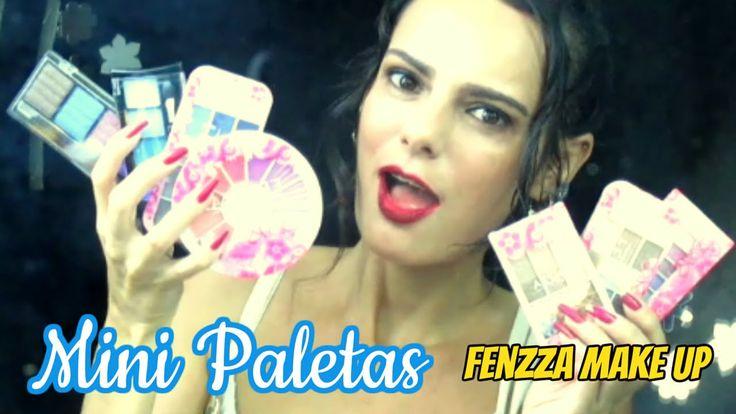 #Resenha - Mini Paletas Fenzza Make Up   Luciana Queiróz