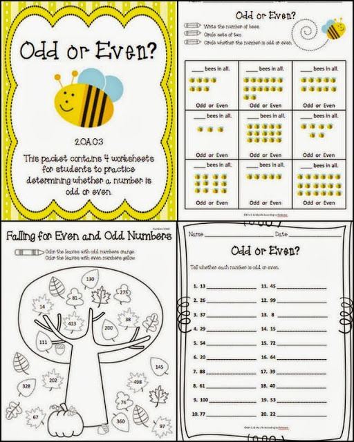 Odd And Even Worksheets Second Grade Pinterest