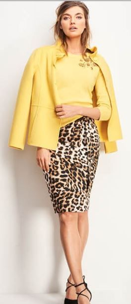 Talbots Fall 2017  - lovig the colors, Saffron, Winter Squash, Wildberry, and the combination with leopard.  Can't wait.