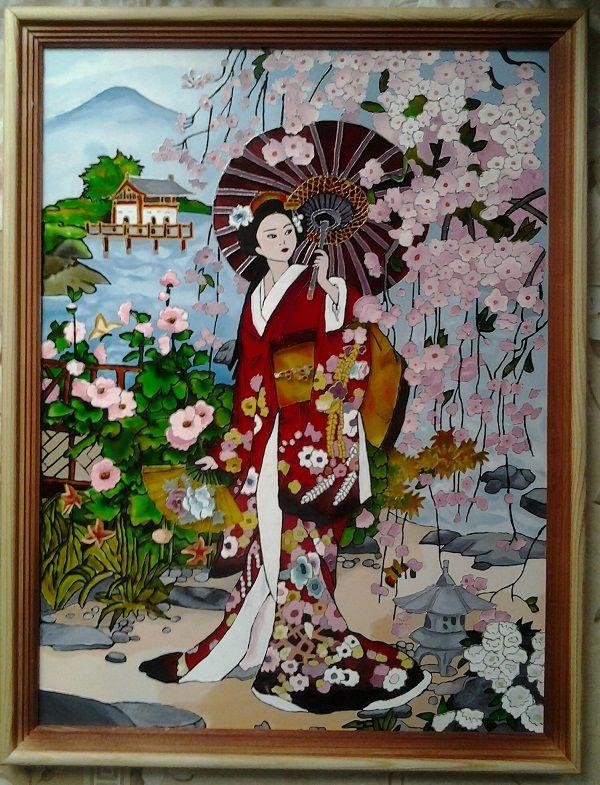 рождение витражи с японских картинок эпоксидные купить москве