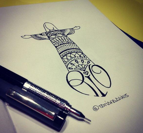 tattoo cristo tatiana alves tattoo pinterest tatuagens. Black Bedroom Furniture Sets. Home Design Ideas