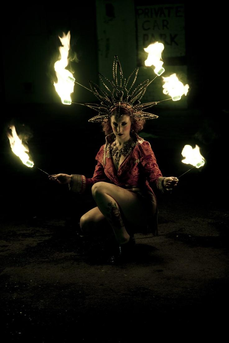 Missy Macabre's fire headdress
