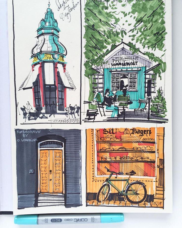 Copenhagen in my sketchesКопенгагенские зарисовки Ещё больше как всегда вы найдёте на моем сайте - нажмите прямую ссылку в профиле #travelsketching #copenhagendrawing#copenhagen #københavn#skitsering#kunst#maleri#kunstner#billeder by olgaart888