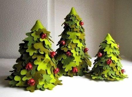 Copaci handmade din pasla 9