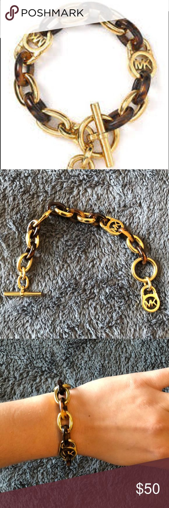 Micheal Kors gold and tortoise chain link bracelet Never worn. Excellent condition. Michael Kors Jewelry Bracelets