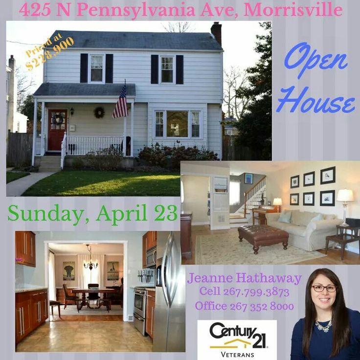 Open house flyer for 425 N Pennsylvania Ave Morrisville
