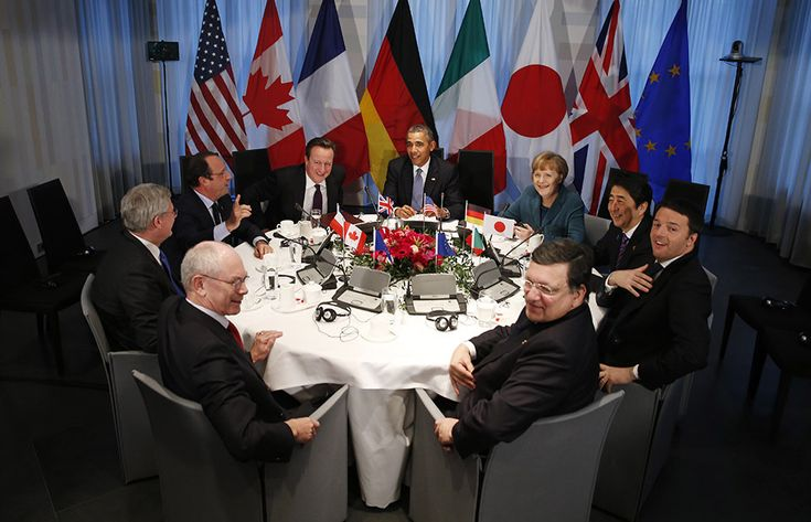 World leaders during meeting of G7 - Made possible by www.iCraiova.com