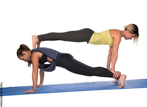 Buddy Up And Try These 2 Person Yoga Poses 2 Person Yoga Poses Yoga Poses For Two Partner Yoga Poses