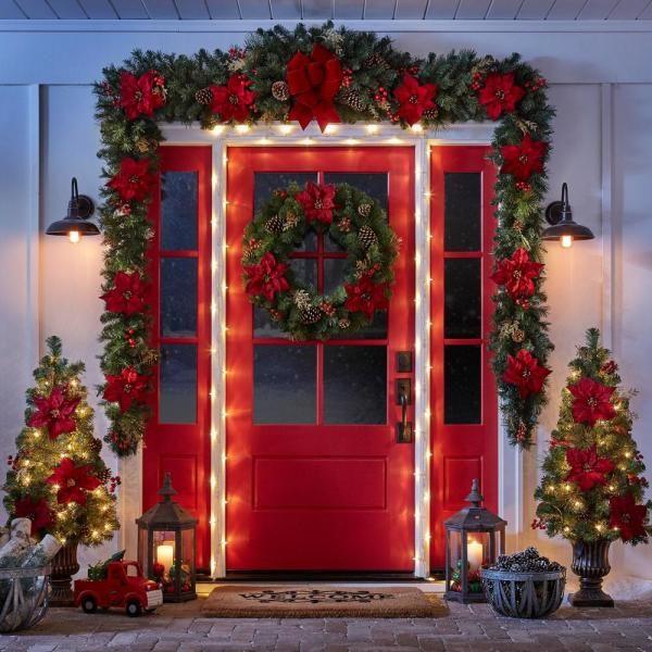 Lora 1 Light Imperial Black Outdoor Barn Light Sconce El0523ib The Home Depot Diy Christmas Decorations Easy Christmas Door Decorations Outdoor Christmas Diy