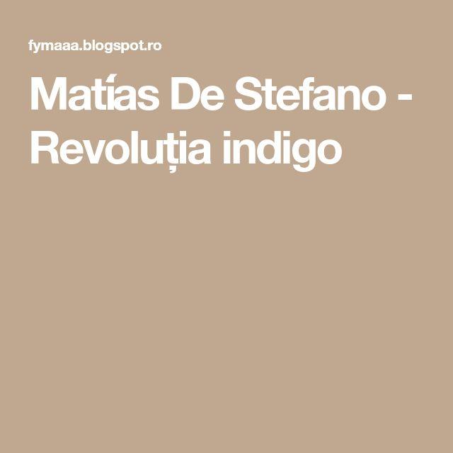 Matías De Stefano - Revoluția indigo