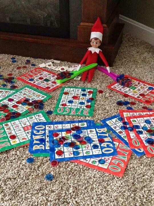 Elf bingo   elf on shelf ideas   Pinterest   Bingo and Elves