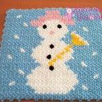 Kardan Adam Lif #washcloth #örgü #lif #knit #knitting #crochet