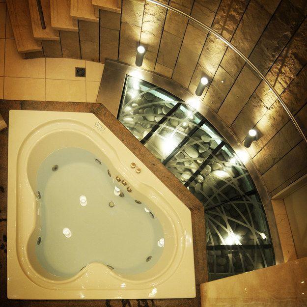 So many bathtub feels. | 27 Gorgeous Bathtubs That Will Make You Join The Bath Fandom