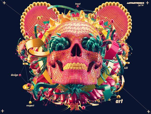 KILL ART // TRUST DESIGN by Antoni Tudisco, via Behance: Graphic Design, Skull, Antonitudisco, Kill Art, Digital Art, Illustration, Killart