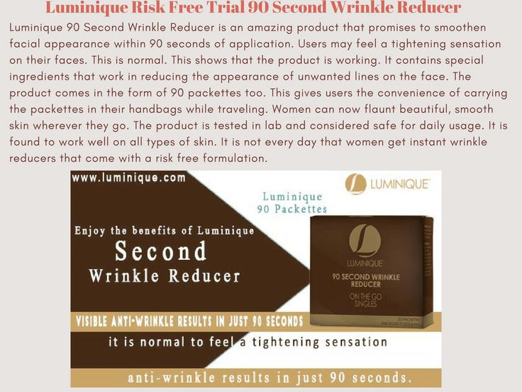 Luminique 90 Second Wrinkle Reducer is an amazing product that promises to smoothen facial appearance within 90 seconds of application.