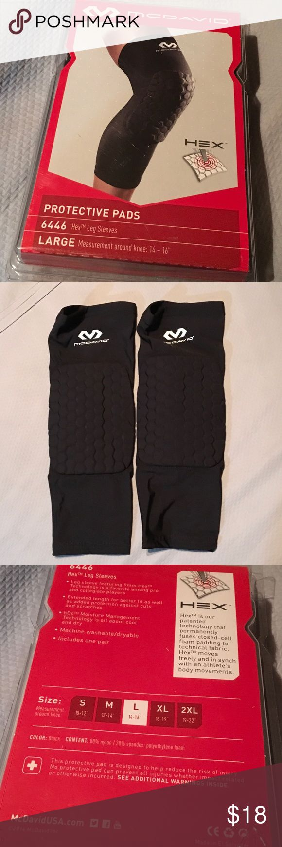 NWOT MCDAVID Protective Leg Sleeves Brand New MCDAVID protective pads.   Leg sleeves size large.   See pictures for sizing chart.   Great for Basketball.     Priced to sell...this is an outstanding price for these. MCDAVID Other