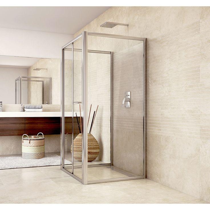 Sprchový kout do prostoru, Mistica, čtverec, chrom ALU, výška 190 cm