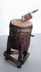 Ceppo per macellaio cm.1,9x4 h. : Mestieri accessori Macellaio - Pescivendolo su Presepiopiu.it