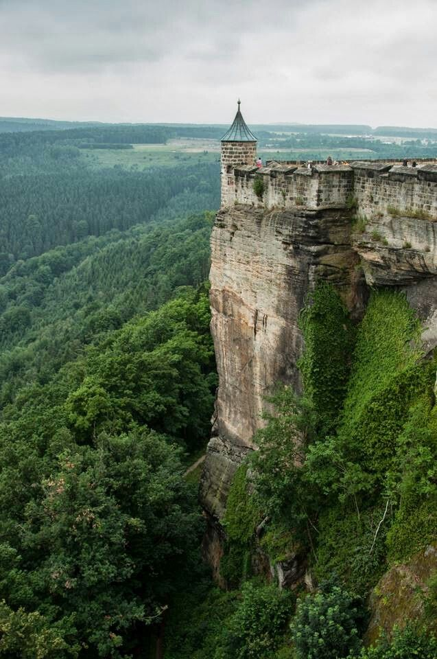 """Konigstein, Germany. Earliest record of """"King's Rock"""" was in the mid 13th century. The fortress originally belonged to the kingdom of Bohemia. The king being Wenceslas the first."""