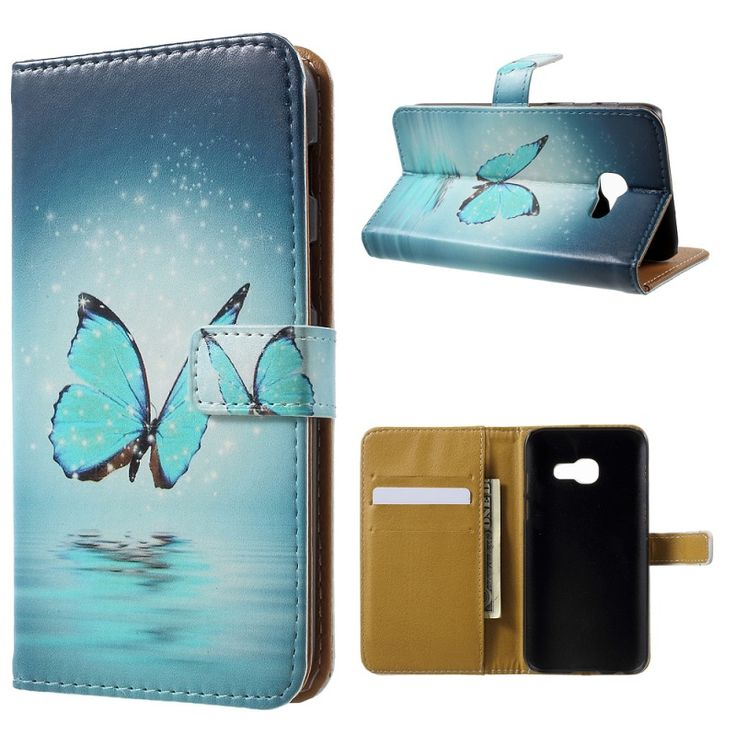 Cover for Samsung Galaxy A3 (2017) Phone Cases Card Slots Leather Pattern Printing Cover Case for Galaxy A 3 (2017) Bag Shell