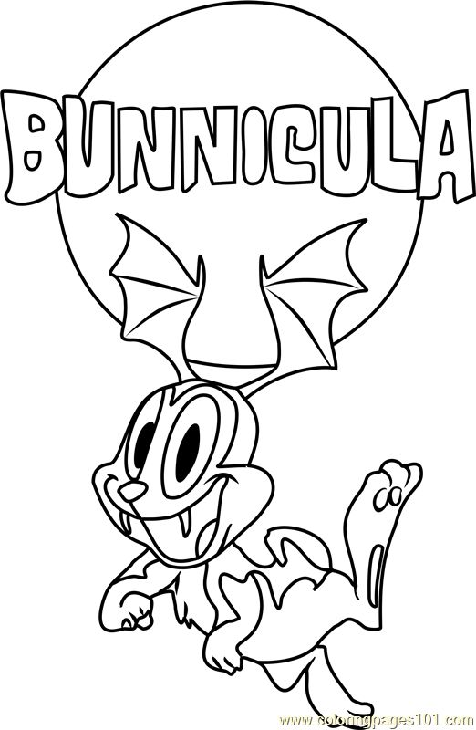 Bunnicula Flying Coloring Page | kawaii w 2018 | Pinterest ...