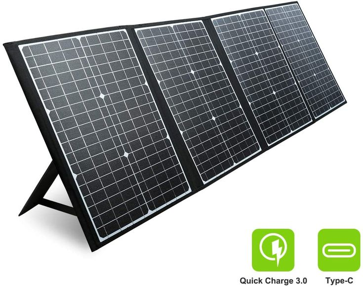 Paxcess Rv Solar Panel 120w 18v Portable Folding Solar Panel With Usb Qc 3 0 Type C Output Of In 2020 Rv Solar Panels Rv Solar Solar Panels
