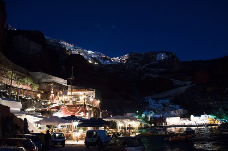 Ammoudi bay at night